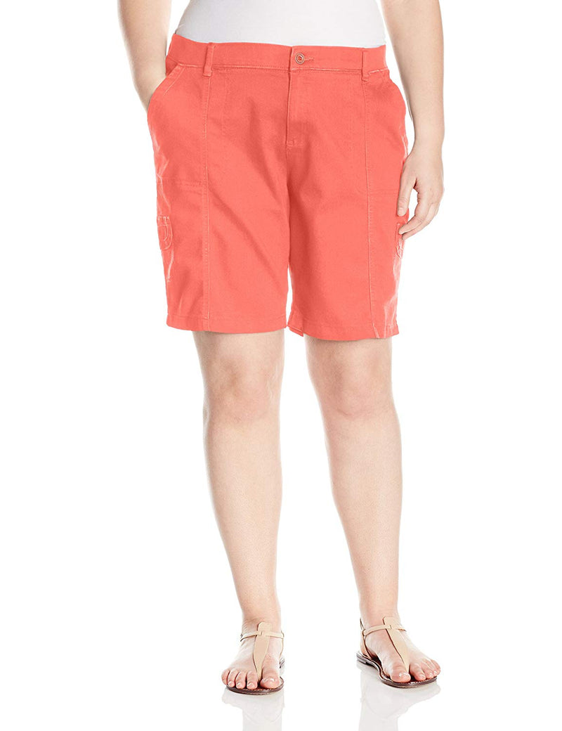 LEE Women's Relaxed Fit Delaney Knit Waist Cargo Bermuda Short