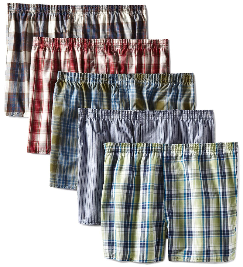 Fruit of the Loom Men's Assorted Low Rise Boxer - Colors May Vary(Pack of 5)