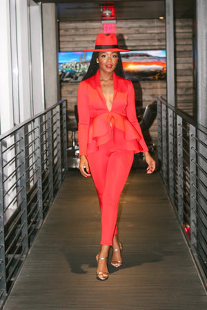 Lady in Red 2 piece suit