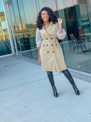 Pretty in Puff | Trench Coat