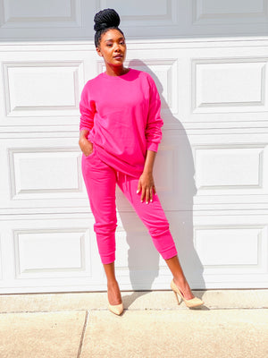 So Essential | Sweatsuit (Pink)