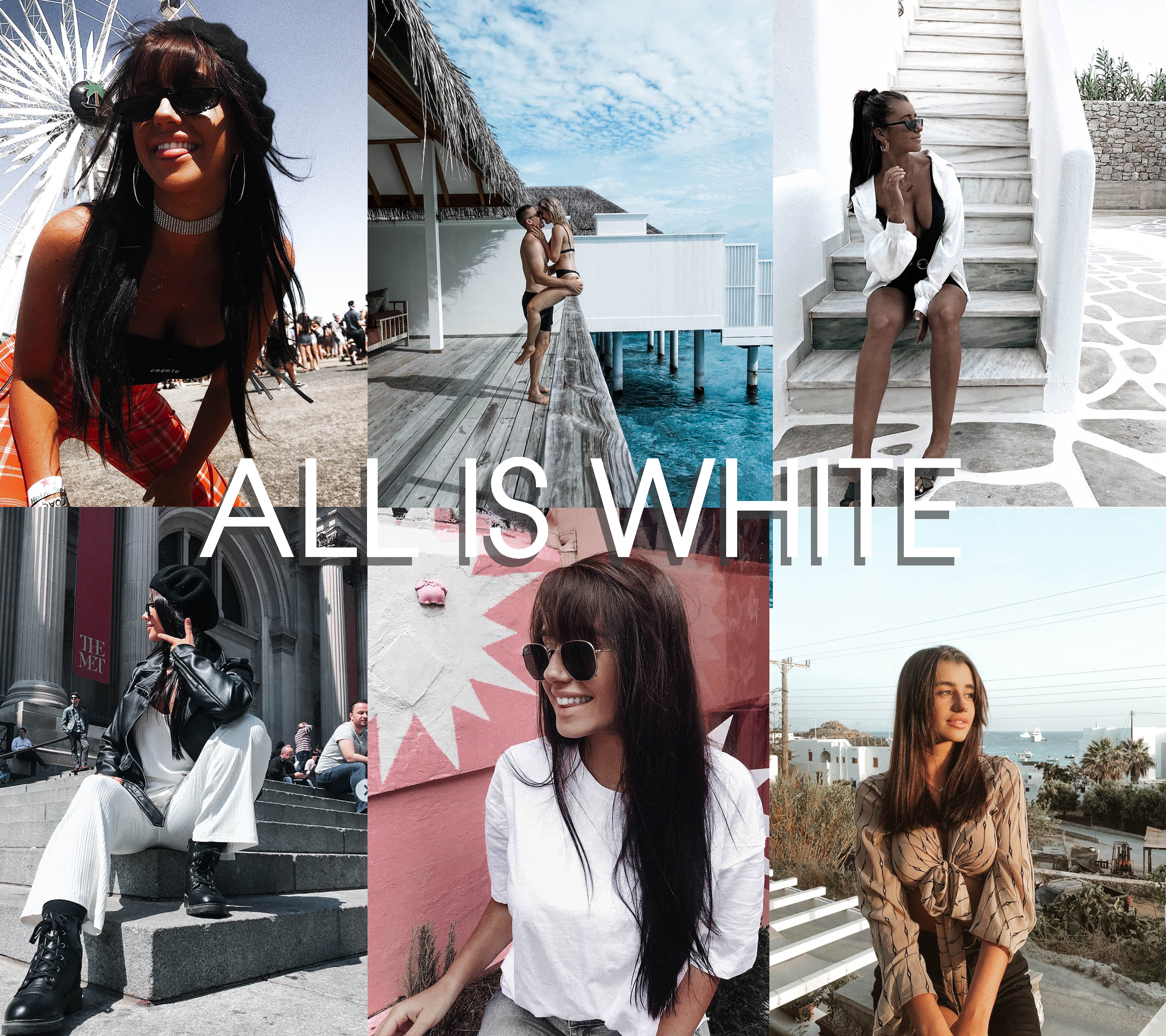 """ALL IS WHITE"" Preset Pack of 6 - Plush Boutique"