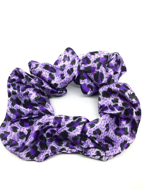 SNAKE COLOURED PRINT SCRUNCHIES 3pk