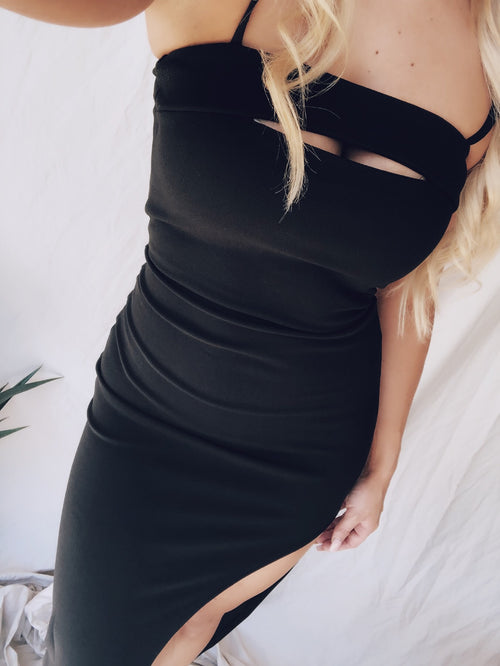 Now You See Bodycon Dress - Plush Boutique