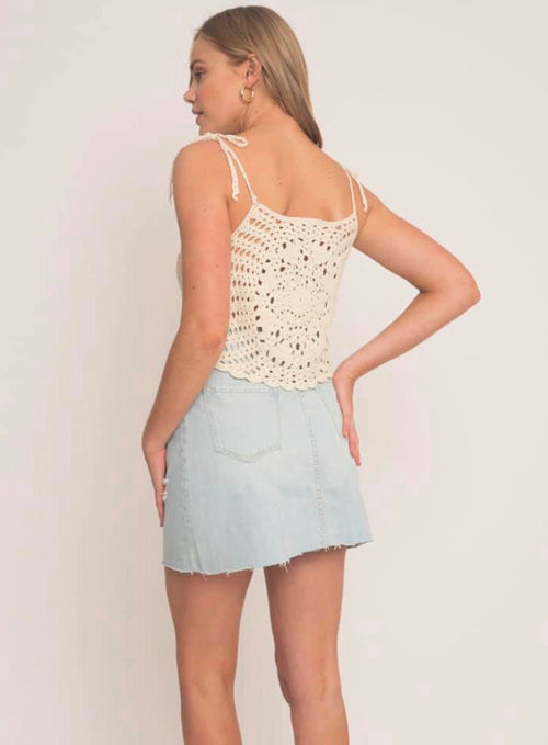 CLEAN START CROP BEIGE - Plush Boutique