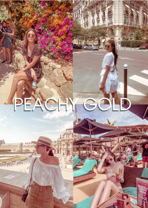 """PEACHY GOLD"" Preset Pack of 4 - Plush Boutique"