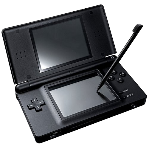 Black Nintendo DS with stylus