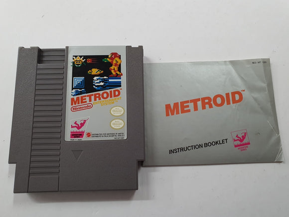 Metroid Cartridge with Game Manual