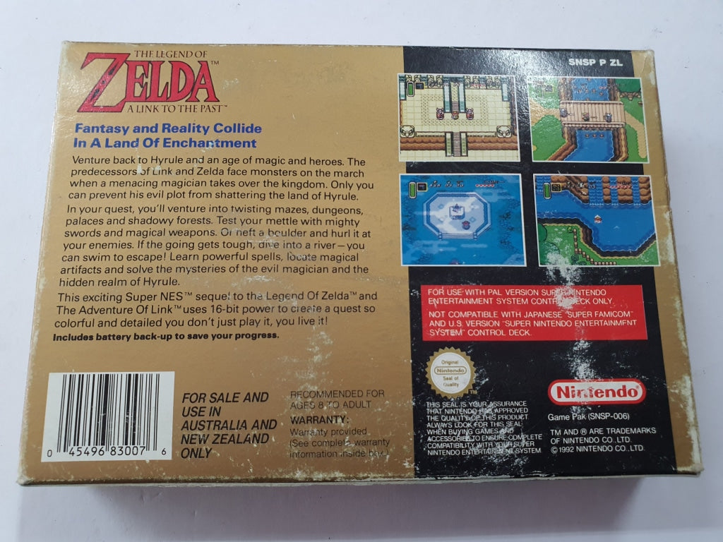 The Legend of Zelda A Link to The Past Complete in Box