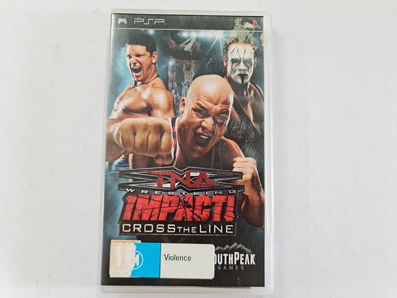 TNA Impact Cross the Line Complete In Original Case