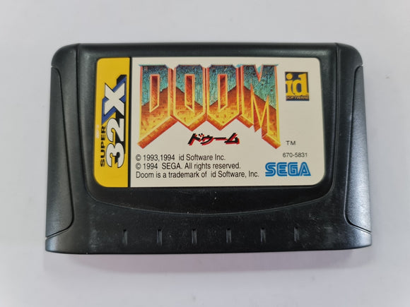 Doom NTSC J Cartridge