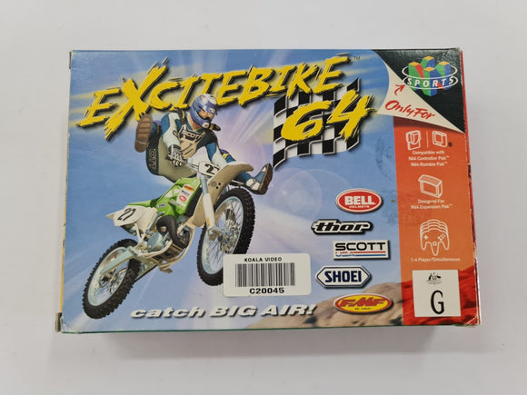 Excitebike 64 Complete In Box