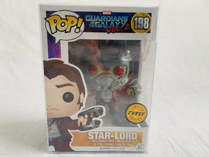 Marvel Guardians Of The Galaxy Vol.2 Star-Lord Chase Variant #198 Funko Pop Vinyl Brand New & Sealed with Free Pop Protector