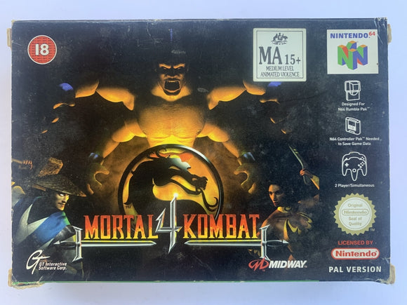 Mortal Kombat 4 Complete In Box