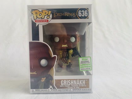 Limited Edition Funko Exclusive 2019 Eccc The Lord Of Rings Grishnakh #636 Pop Vinyl Brand New &