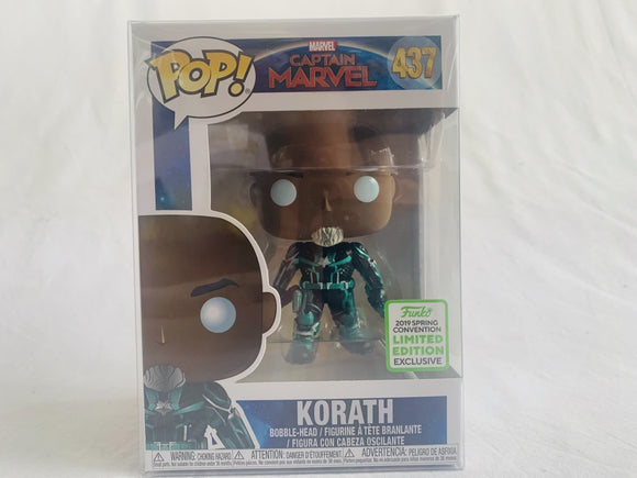 Limited Edition Funko Exclusive 2019 ECCC Captain Marvel Korath #437 Funko Pop Vinyl Brand New & Sealed with Free Pop Protector