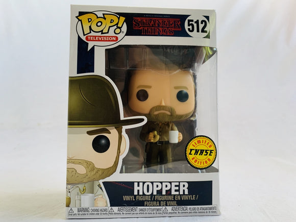 Stranger Things Hopper #512 Chase Variant Funko Pop Vinyl Pre Owned Unopened with Free Pop Protector