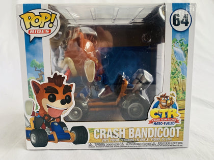 Crash Bandicoot Team Racing Nitro Fueled On Go Kart #64 Funko Pop Vinyl Brand New & Sealed