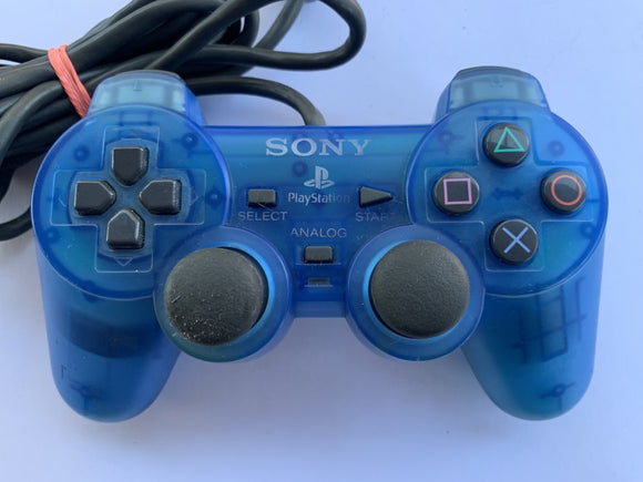 Genuine Clear Blue Dualshock Playstation 1 Controller
