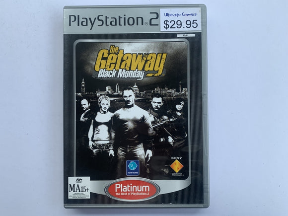 The Getaway Black Monday Complete In Original Case
