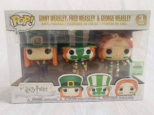Limited Edition Funko Exclusive 2019 ECCC Harry Potter Ginny Weasley, Fred Weasley & George Weasley 3 Pack Funko Pop Vinyl Brand New & Sealed