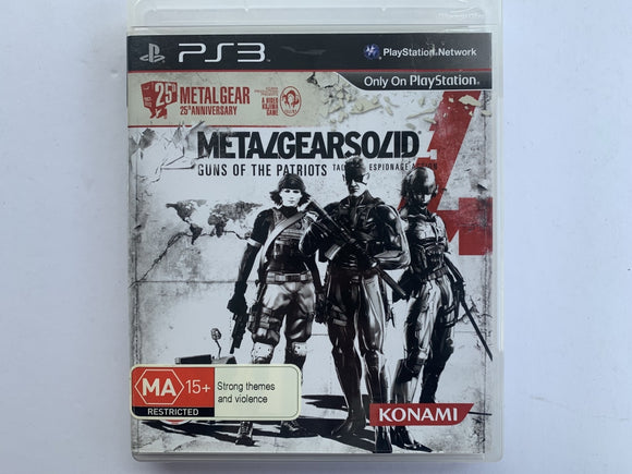 Metal Gear Solid 4 Guns Of The Patriots 25th Anniversary Edition Complete In Original Case