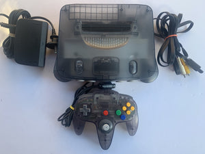 Limited Edition Funtastic Charcoal Clear Black Nintendo 64 N64 Console