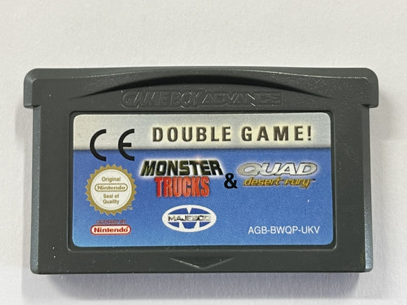 Double Game Monster Trucks & Quad Desert Fury Cartridge
