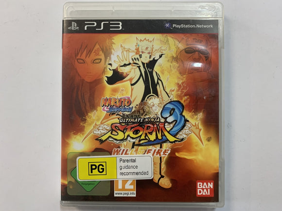 Naruto Ultimate Ninja Storm 3 Will Of Fire Complete In Original Case