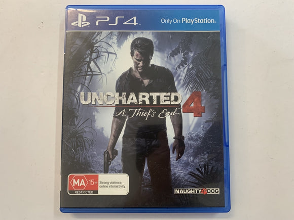 Uncharted 4 A Thief's End Complete In Original Case