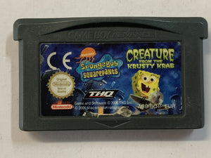 Spongebob Squarepants Creature From The Krusty Crab Cartridge