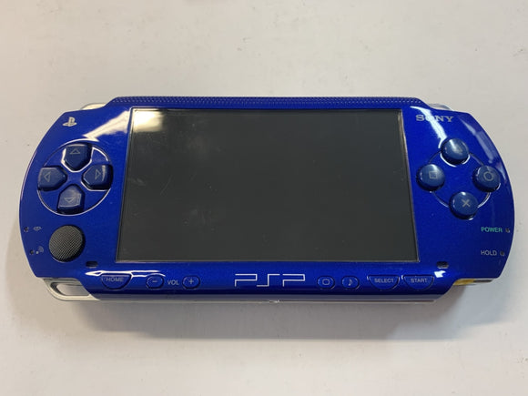 Metallic Blue Sony PlayStation Portable PSP 1000 Console with Charger & Hard Case