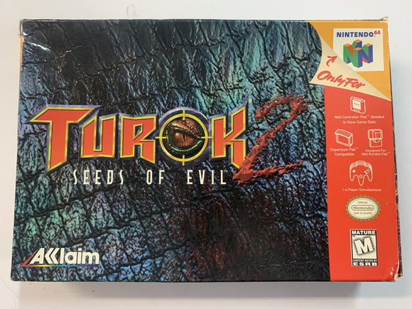 Turok 2 Seeds Of Evil NTSC Complete In Box