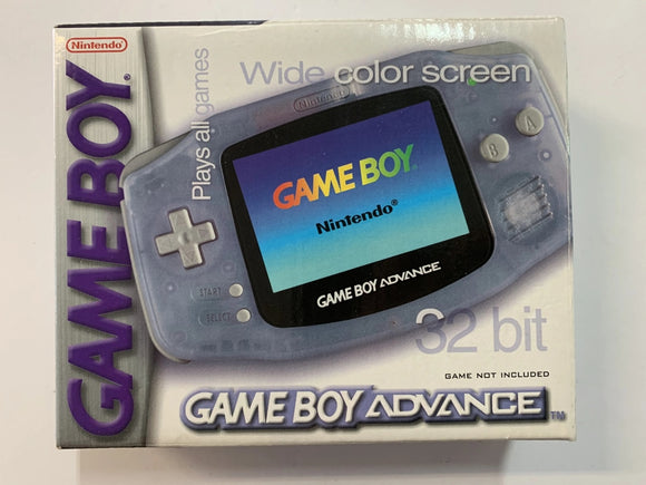 Clear Glacier Blue Nintendo Gameboy Advance Console Complete In Box