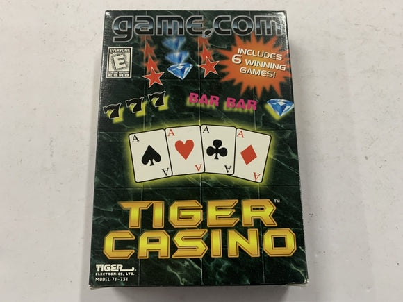 Tiger Casino for Game.Com Complete In Box