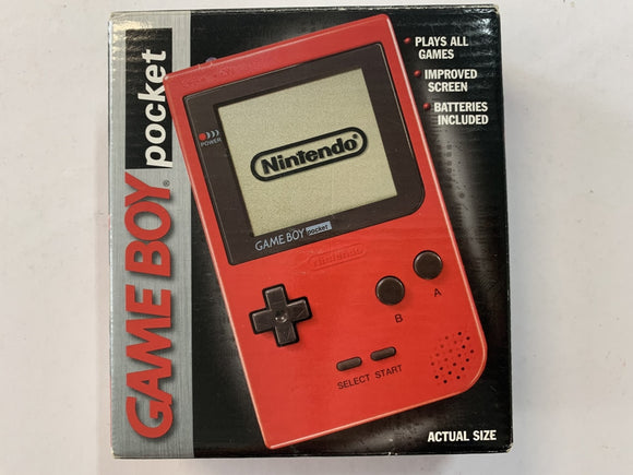 Red Nintendo Gameboy Pocket Complete In Box