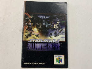 Star Wars Shadow of The Empire Game Manual