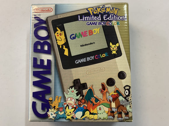 Limited Special Edition Pokemon Centre Gold Gameboy Color Complete In Box