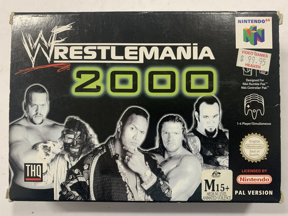 Wrestlemania 2000 Complete In Box