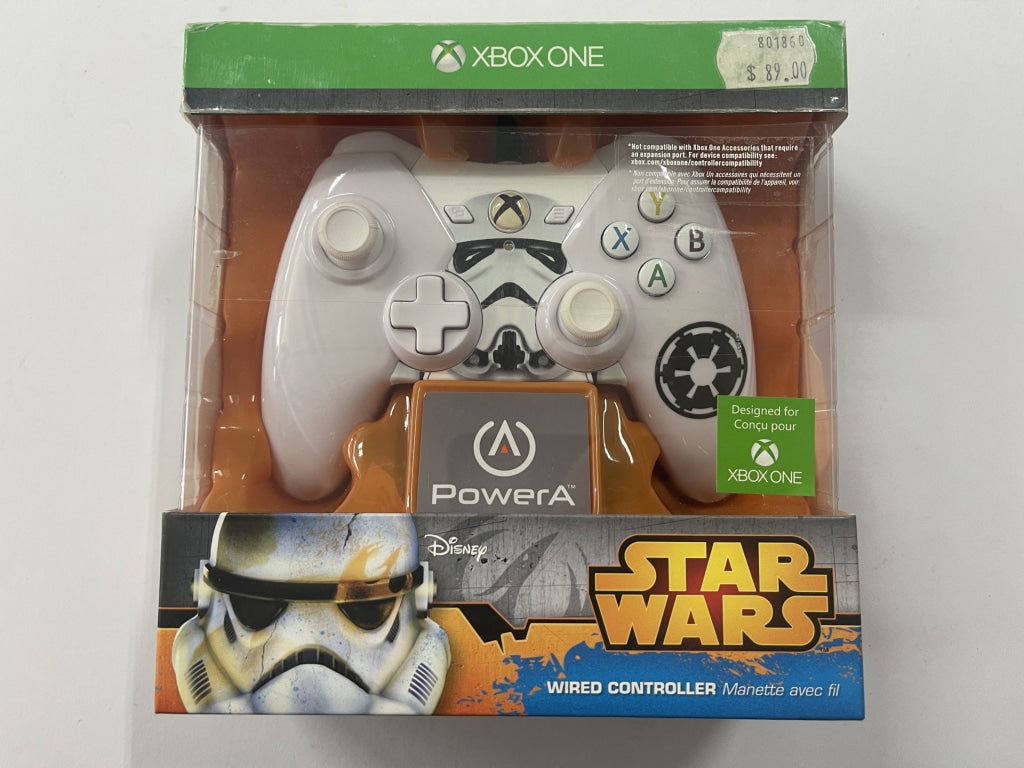 Genuine Microsoft Power A Official Star Wars Stormtrooper XBOX One Wired Controller Brand New & Sealed