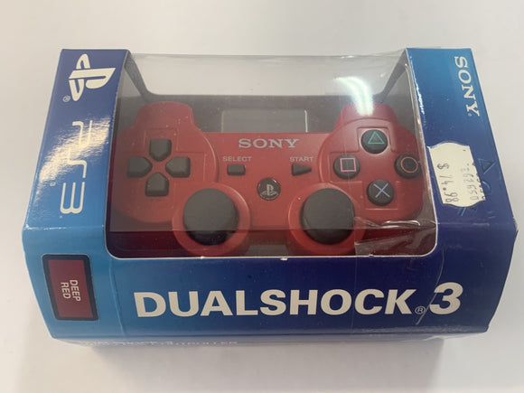 Brand New Genuine Official Sony Playstation 3 SIXAXIS Dualshock 3 Red Wireless Controller
