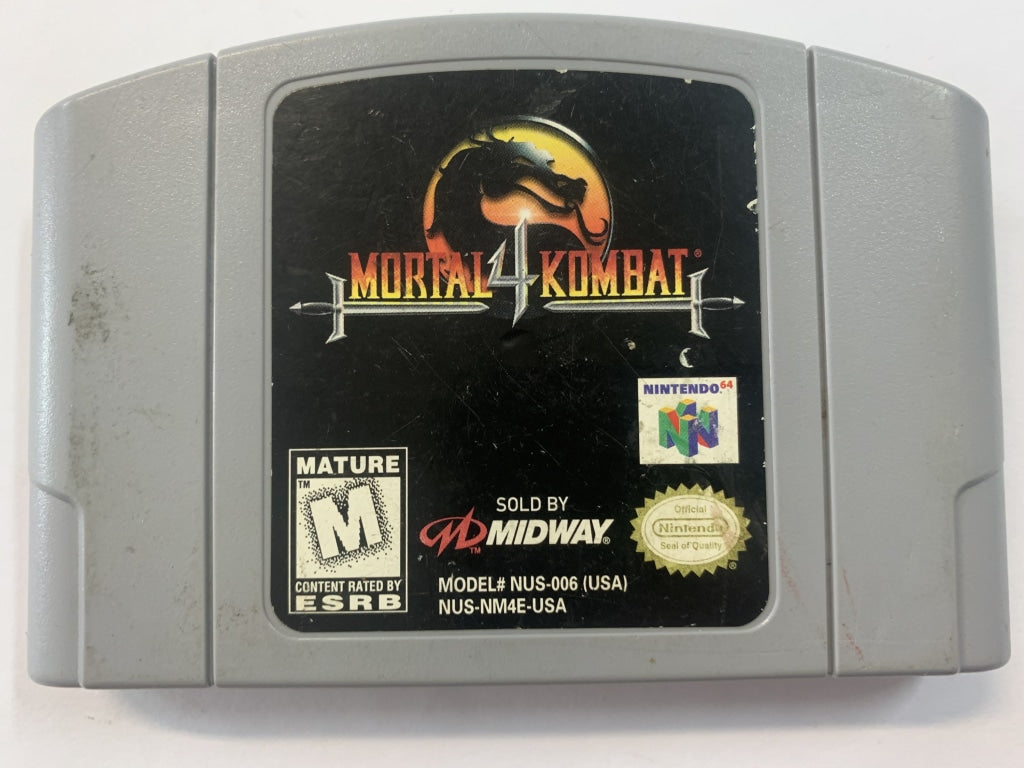 Mortal Kombat 4 NTSC Cartridge