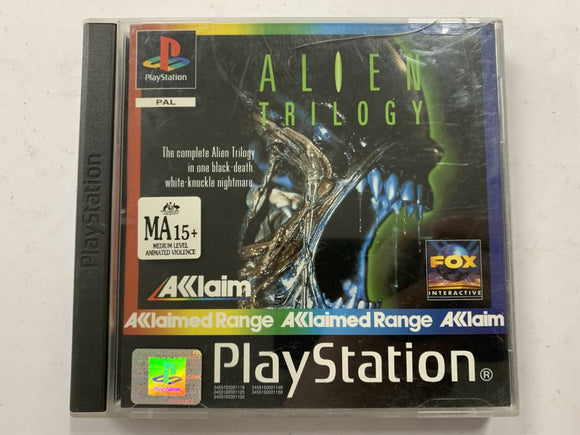 Alien Trilogy Complete In Original Case