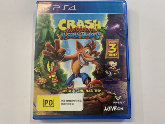 Crash Bandicoot N Sane Trilogy Complete In Original Case