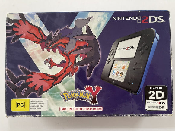 Limited Edition Pokemon Y 2DS Console Complete In Box