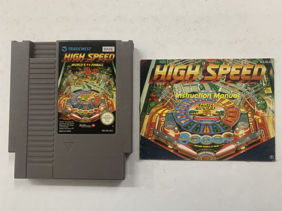 High Speed Pinball Cartridge with Game Manual