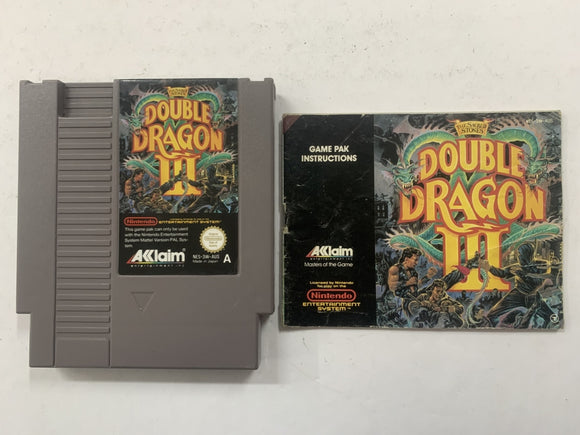 Double Dragon 3 Cartridge with Game Manual