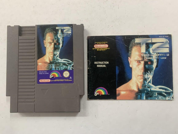 Terminator 2 Judgement Day Cartridge with Game Manual