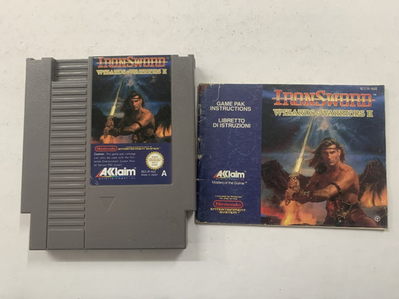 Ironsword Wizards & Warriors 2 Cartridge with Game Manual