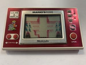Mario's Cement Factory Widescreen Game & Watch Handheld Console